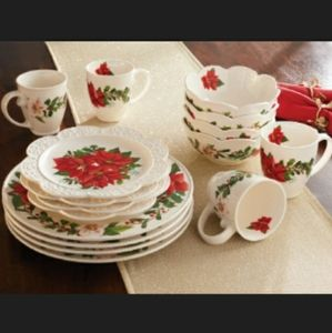 Princess House Holiday 16-Piece Dinnerware Set
